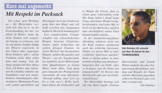 """Kolumne 1 """"Mit Respekt im Packsack"""" im TOURENFAHRER 04-2018, Seite 10"""