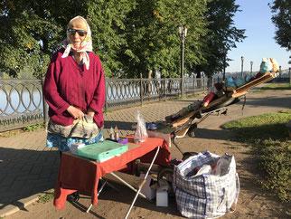 Mütterchen Russland - sie sammelt Geld für ihre Augen-OP