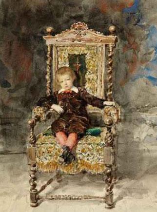 El niño Joaquin Soriano Berroeta,1868.Colección particular.Despues de contraer matrimonio con Cecilia Madrazo,actuó como testigo Benito Soriano,gran amigo de la familia de la novia Cecilia.