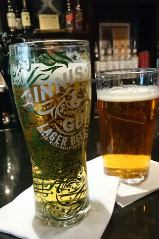 A refreshing pint at the Hard Rock Café Edinburgh
