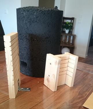 Holzbeton-Rundkasten Eigenbau