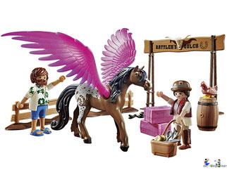 Das Besonderheit im Playmobil Paket 70074 sind die pinke Flügel.