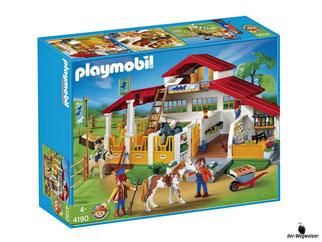 """Bei der Bestellung im Onlineshop der-Wegweiser erhalten Sie das Playmobil Paket 4190 """"Moderner Reiterhof""""."""