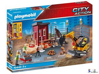 """Bei der Bestellung im Onlineshop der-Wegweiser erhalten Sie das Playmobil Paket 70443 """"Minibagger mit Bauteil""""."""