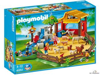 """Bei der Bestellung im Onlineshop der-Wegweiser erhalten Sie das Playmobil Paket 4851 """"Streichelzoo""""."""