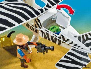 Die Besonderheiten im Playmobil Paket 6938 sind die drehenden Räder, damit das Flugzeug gut starten und landen kann.