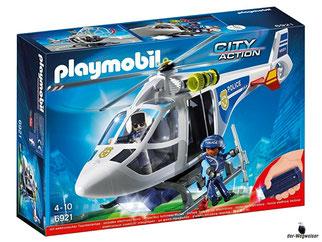 """Bei der Bestellung im Onlineshop der-Wegweiser erhalten Sie das Playmobil Paket 6921 """"Police-Helikopter mit LED-Suchscheinwerfer""""."""
