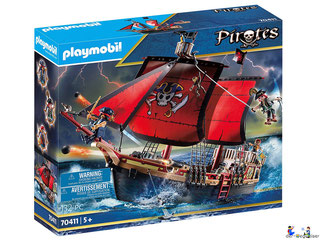 """Bei der Bestellung im Onlineshop der-Wegweiser erhalten Sie das Playmobil Paket 70411 """"Totenkopf-Kampfschiff""""."""