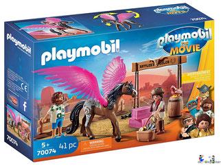 Bei der Bestellung im Onlineshop der-Wegweiser erhalten Sie das Playmobil Paket 70074 THE MOVIE Marla, Del und Pferd mit Flügel.