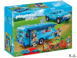 """Bei der Bestellung im Onlineshop der-Wegweiser erhalten Sie das Playmobil Paket 9502 """"Pick-Up mit Wohnwagen""""."""