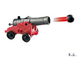 Die Besonderheit im Playmobil Paket 5683 ist der schwimmfähiger Segler mit einer schussfähige Kanone.