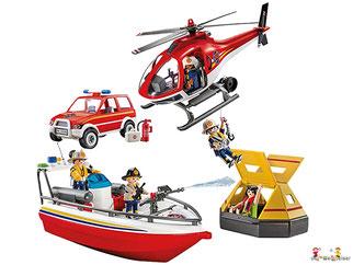 Im Paket Playmobil 9464 ist ein Rüstfahrzeug und viel weiteres Feuerwehrzubehör enthalten.