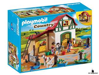 """Bei der Bestellung im Onlineshop der-Wegweiser erhalten Sie das Playmobil Paket 6927 """"Ponyhof""""."""