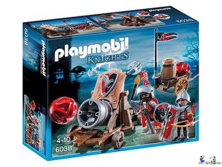 """Bei der Bestellung im Onlineshop der-Wegweiser erhalten Sie das Playmobil Paket 6038 """"Riesenkanone der Falkenritter""""."""