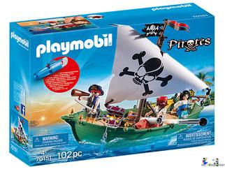 """Bei der Bestellung im Onlineshop der-Wegweiser erhalten Sie das Playmobil Paket 9522 """"Piratenset mit Piratenschiff""""."""