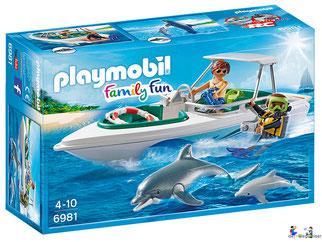 """Bei der Bestellung im Onlineshop der-Wegweiser erhalten Sie das Playmobil Paket 6981 """"Tauchausflug mit Sportboot""""."""