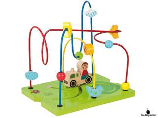 Die Besonderheit im Eichhorn Paket ist, dass der Würfel entwickelt wurde um die Koordination und Feinmotorik von Kleinkindern zu fördern.