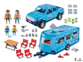 Im Paket Playmobil 9502 sind über 44 Einzelteile enthalten.