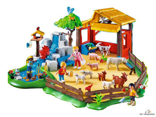 Besonderheiten im Playmobil Paket 4851 ist das ein Unterstand für die Tiere, damit Sie bei Regen geschützt sind.
