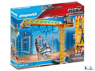 """Bei der Bestellung im Onlineshop der-Wegweiser erhalten Sie das Playmobil Paket 70441 """"RC-Baukran mit Bauteil""""."""