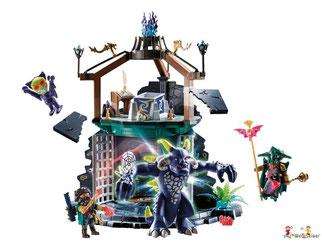 Die Besonderheit im Playmobil Paket 70221 ist der fauchender Drachen.