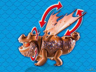 Die Besonderheit im Playmobil Paket 9460 ist der beweglicher Kopf und die beweglichen Flügel.