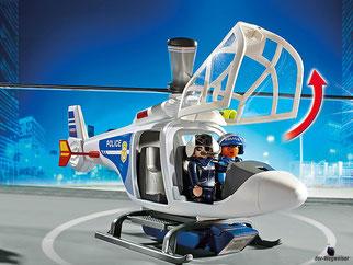 Die Besonderheit im Playmobil Paket 6921 ist die funktionierende Seilwinde für ein cooles Abseilen bei einem Notfall.