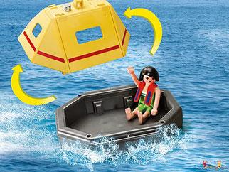 Besonderheiten im Playmobil Paket 9464 sind das Licht und die zwei Feuerwehr-Sounds.