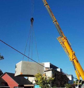 regards monobloc en béton préfabriqués / Pajot entreprise construction