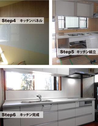 キッチンリフォーム 工程