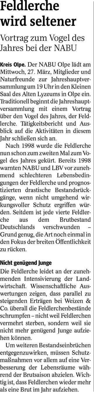 Westfalenpost, 14.03.2019