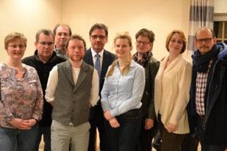 Sarina, Dirk, Ulrich, Kevin, Holger, Linda, Bettina, Lena und Andreas