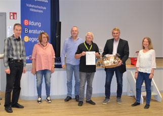 Von links nach rechts: Uwe Schneider, Aggi Galle, Torsten Bruns, Dieter Goy, Andreas Humbert, Simone Flohr