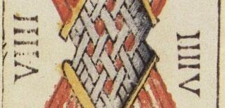 Neuf de Bâtons - Le Tarot de Jean Dodal