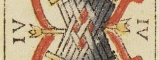Six de Bâtons - Le Tarot de Jean Dodal