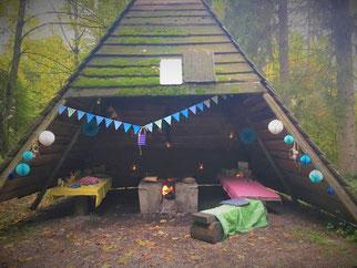 Hüttenzauber beim Wald-Geburtstag