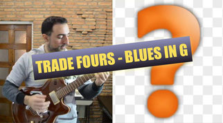Trade Fours G Blues Backing Track