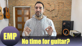 No time to practice guitar?