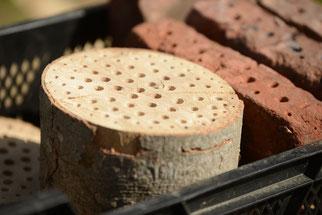 Hunderte Löcher wurden in Holz und Stein gebohrt. (Foto: Stefan Körber)