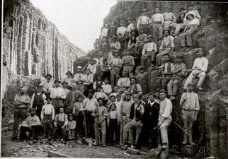 Arbeiter im Eulenberg im Jahr 1905