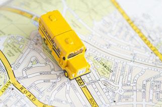 地図(バスか車か電車か)