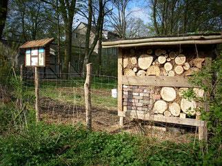 Wildbienenhotel an der Ravensteiner Mühle