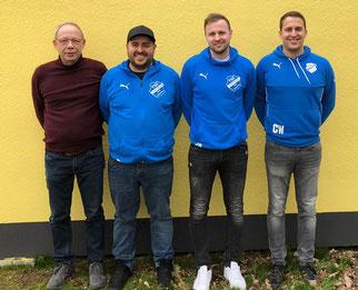 Walter Rößler, Tim Krüger, Sebastian Eichenauer und Christian Wahl · Foto→ FSG