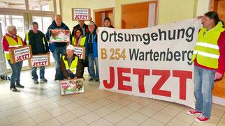 Klares Bekenntnis zur Ortsumgehung des Bürgerbündnisses bei der Kreistagssitzung am 11. November 2019 in Romrod · Foto→ Lukas Kaufmann
