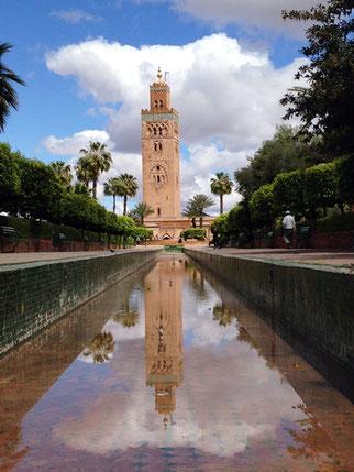 Jardines de la Mezquita de la Koutoubia.