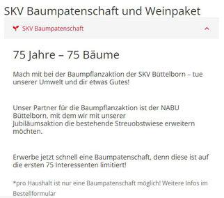 Jubiläums-Aktion des SKV Büttelborn (Quelle: SKV homepage)