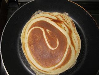 Pfannkuchen ohne Zucker, Pancake, Crepe, zuckerfrei