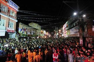 Concert de Lakshya Band dans la rue a Kathmandu