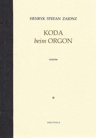 Stefan Zajonz, Koda, Gedichte / gedruckt auf Zeta-Zander-Papier, Canson-Ingres,Dorée und schwarze Seidenfolie / Deutpols, 14 Expl., 21.03.2002, Bonn-Bad Godesberg