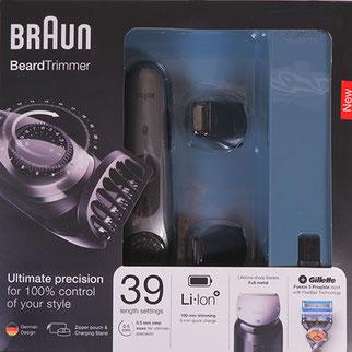Braun Barttrimmer und Haarschneider BT 7040 Verpackung